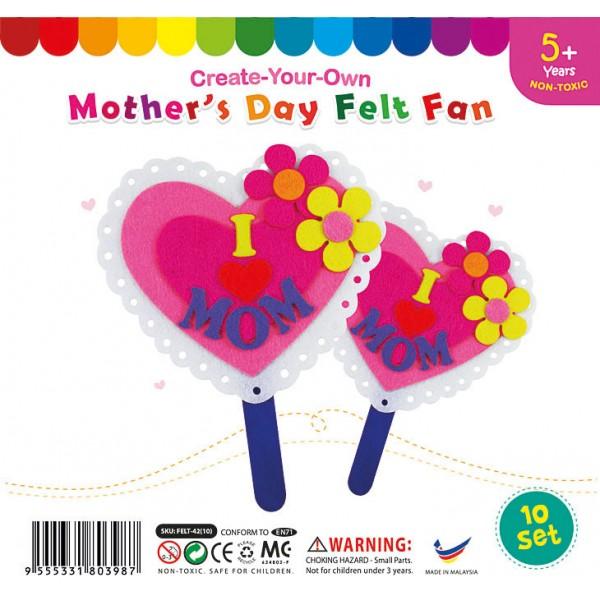 Felt Mother's Day Fan Pack of 10